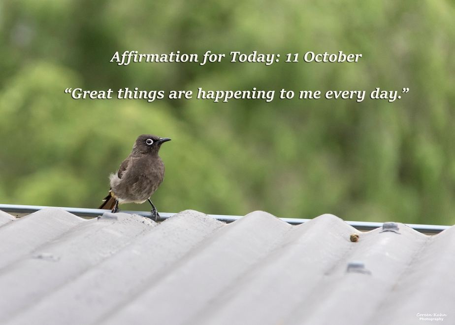 Affirmation for Today: 11 October2021