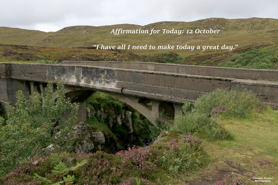Affirmation for Today: 12 October2021
