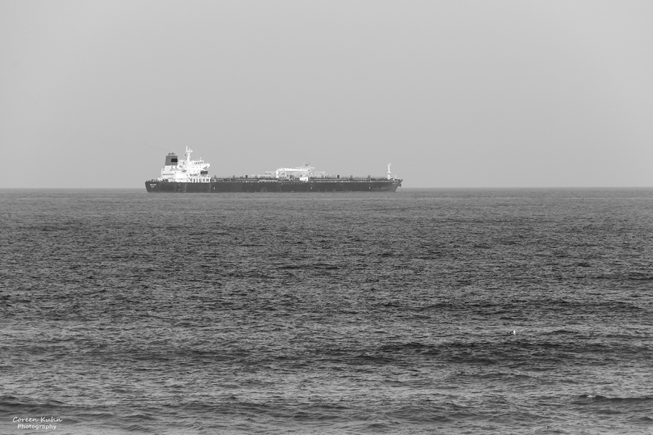 Black and White Photography: Cargo Ship#3