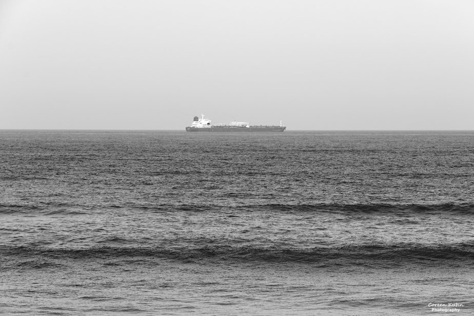 Black and White Photography: Cargo Ship#2