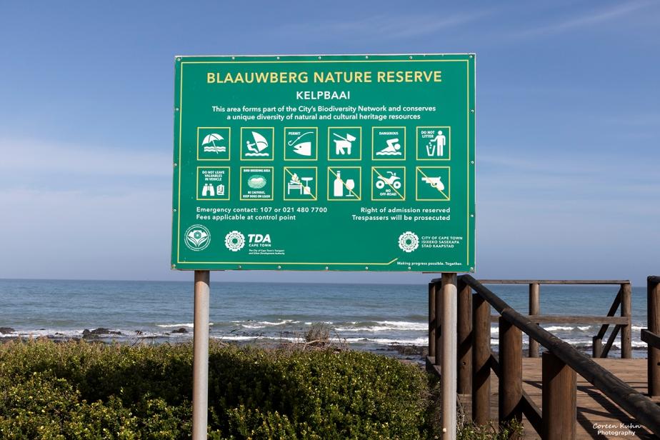 Blaauwberg Nature Reserve – Kelpbaai sign#1