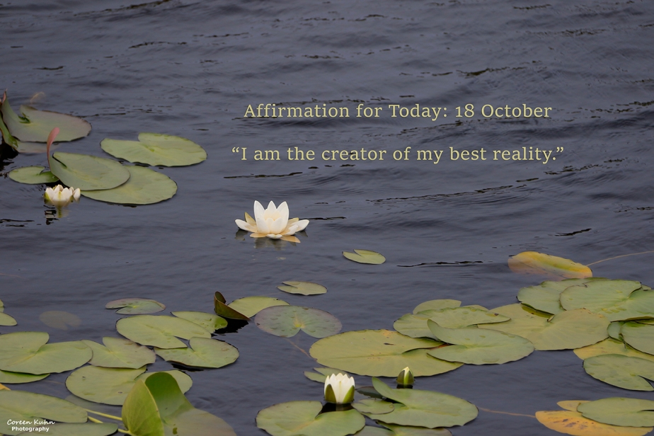 Affirmation for Today: 18 October2021