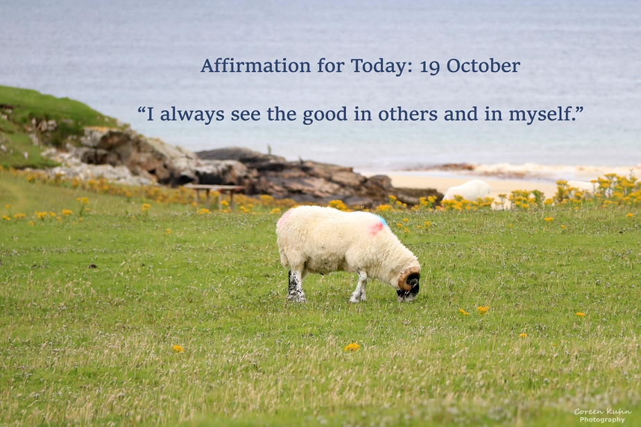 Affirmation for Today: 19 October2021