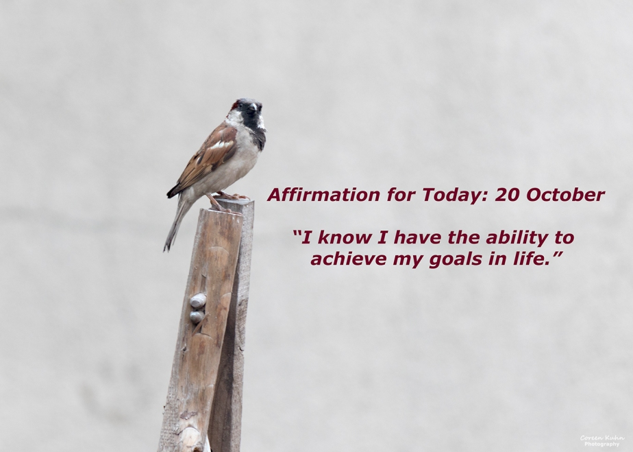 Affirmation for Today: 20 October2021