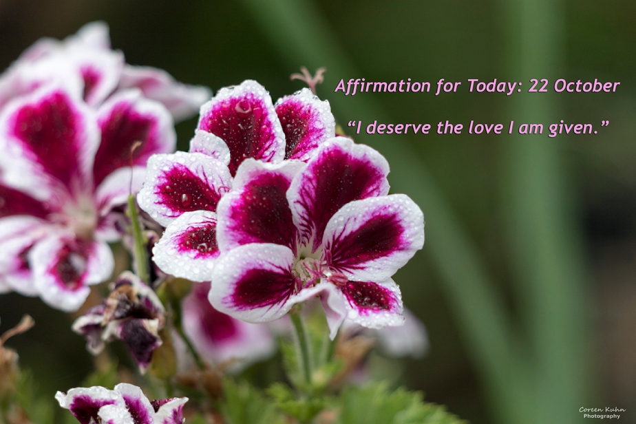 Affirmation for Today: 22 October2021