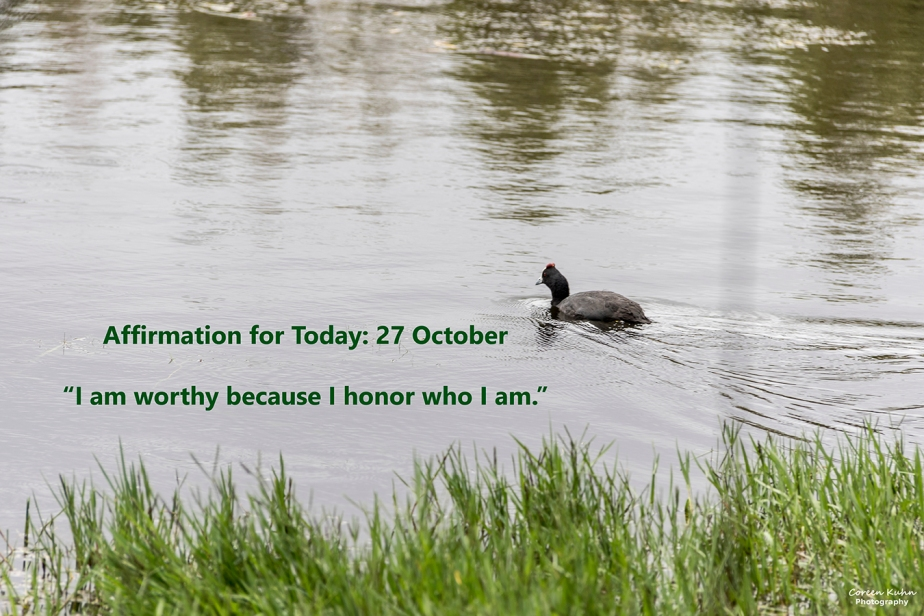 Affirmation for Today: 27 October2021